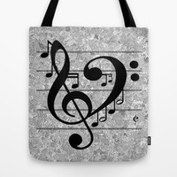 Love Music Tote Bag by RichCaspian | Society6