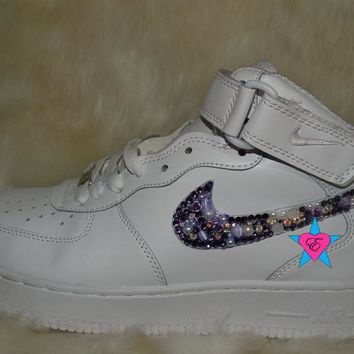 Custom Roses Gems Crystal Nike Air Force 1s