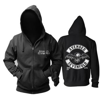 AVENGED SEVENFOLD AUTHENTIC 2008 WINGED FLYING SKULL TOUR Heavy Metal  hoodie