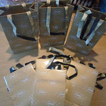 LADIES CHANEL GIFT BAGS X 10 - CHRISTMAS BAGS PERFECT FOR SAMPLES ETC - RE SALE