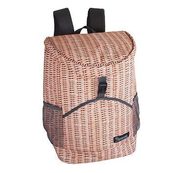 Perfect Faux Wicker Cooler Backpack