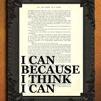 positive quote poster, stay positive, inspirational print, I can