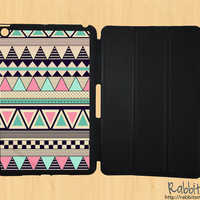 iPad Mini Case, iPad Mini Cover, iPad Mini Smart Cover, Leather iPad Mini Smart Case, Geometric iPad Mini Case - Aztec iPad Mini Case Tribal
