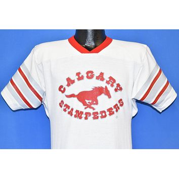 80s Calgary Stampeders CFL Jersey t-shirt Small