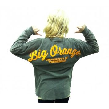 Tennessee Spirit Jersey Gray BIG ORANGE