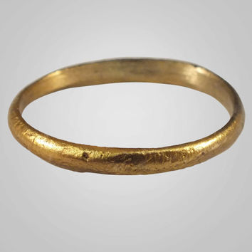 Authentic Ancient Viking Wedding Band Jewelry C.866-1067A.D. Size 10 1/4   (20mm)(Brr557)