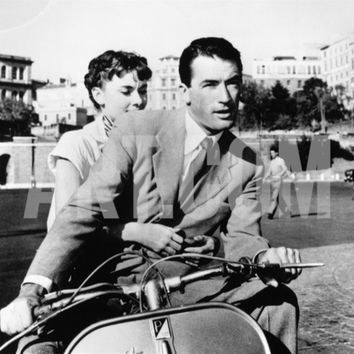 Audrey Hepburn, Gregory Peck. Roman Holiday 1953, Directed by William Wyler Photographic Print at Art.com
