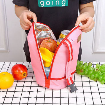 SaicleHome Thicked Lunch Tote Bag Keep Fresh Cooler Bag Handheld Belt Food Picnic Bags Travel Bags