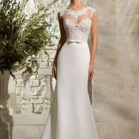 Blu by Mori Lee 5301 Lace and Chiffon Wedding Dress
