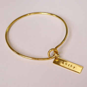 Brass Hook On Bracelet