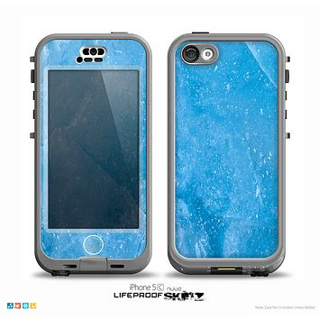 The Blue Ice Surface Skin for the iPhone 5c nüüd LifeProof Case