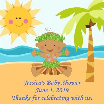 Luau Baby Shower Favor Tags Many Baby Options