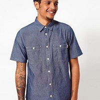 Carhartt Shirt Clink Short Sleeve Chambray at asos.com