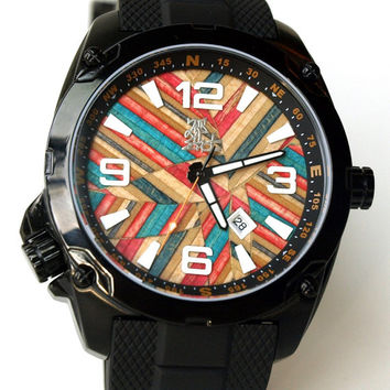 Skate Watch, LIMITED EDITION - Recycled Skateboard Watch - Second Shot Skate Watch