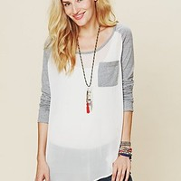 Free People We The Free Raglan Sheer Top
