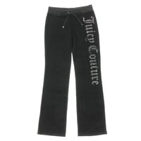 Juicy Couture Black Label Womens Velour Rhinestone Bootcut Pants