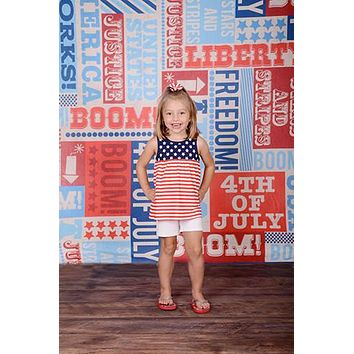 Boom Liberty July 4th Printed Photography Backdrop - 2392