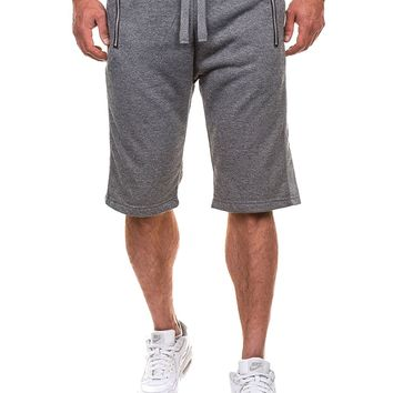 Casual Men Knee Length Shorts w/ Zip Pockets