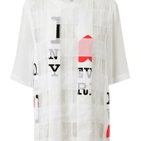 Browns fashion & designer clothes & clothing | 3.1 PHILLIP LIM | Nueva York Printed Patchwork Silk-cotton T-Shirt