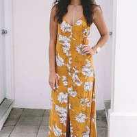 Free Heart Printed Maxi Dress
