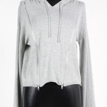 Grey Side Zip Sweater