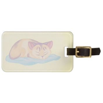 Dreaming Kitten Bag Tag