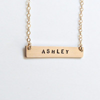 Personalized Bar Necklace Monogram Necklace Name Necklace Initial Necklace Bridesmaid Gifts Monogram Necklace