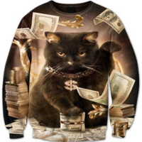 Fat Stacks Cat Crewneck