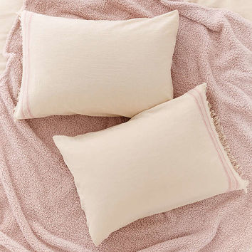 Myra Raw Edge Pillowcase Set - Urban Outfitters