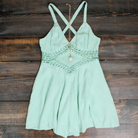 boho chic crochet flowy romper pistachio women's clothing bohemian gypsy hippie southern vacation spring summer outfits cute teen festival