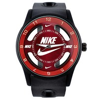 Nike Trending Women Men Casual Big Logo Watch Stylish Watch Sport Movement Lovers Watch Black Red I-SBHY-WSL