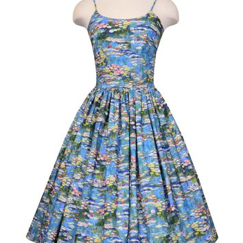 Chelsea dress in Monet print