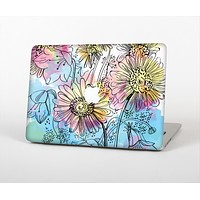 The Colorful WaterColor Floral Skin Set for the Apple MacBook Pro 15""