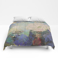 A remembrance of Redon- Purple Haze Comforters by anipani