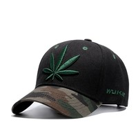 Weed Marijuana Leaf Weed Camouflage Cute, Graphic, Cool Baseball Cap - Unisex Caps