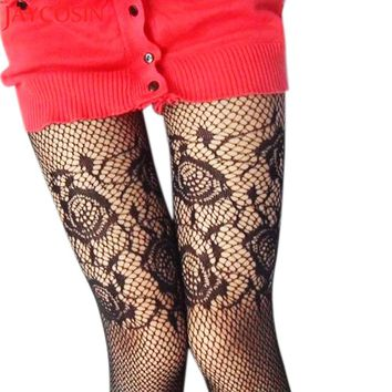 Hosiery tights Mesh Pantyhose women Floral Fashion Black Sexy Fishnet Sexy Slim 2018 stocking Silk Tights Bodystocking JN30A