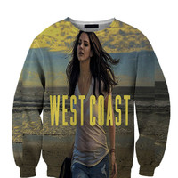 Lana Del Rey West Coast All Over Custom Sublimated sweatshirt Unisex Women and Men