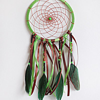 DreamCatcher, Boho Dreamcatcher, Handmade, Wall Hanging, Home Decor, Feathers ,Colourful Dreamcatcher, Coloured ,Gypsy, Green colours