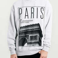 Grey Marl Vintage Paris Sweatshirt - Men's Hoodies & Sweats - Clothing