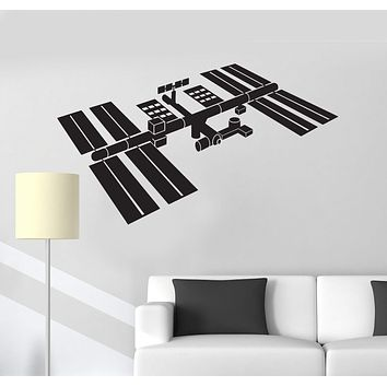 Vinyl Wall Decal Space Station Astronaut Kids Room Decoration Stickers Unique Gift (ig4891)