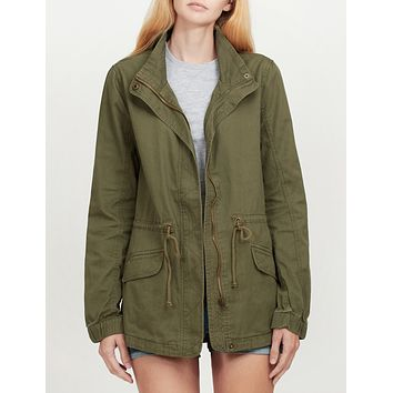 Military Anorak Jacket with Drawstring Waist (CLEARANCE)