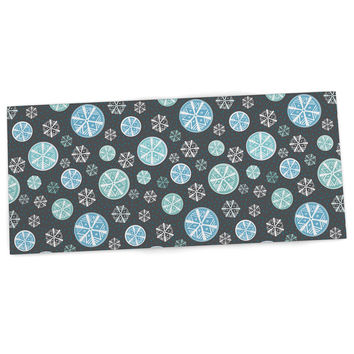 "Julie Hamilton ""Midnight Snow"" Winter Desk Mat"