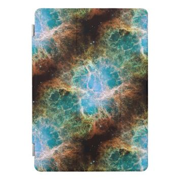 Space Nebula Aqua Brown iPad Case