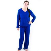 Of the Moment Women's Henley Velour Dot Pajama Set