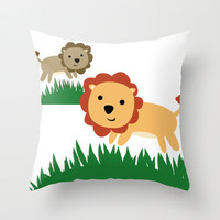 Lion Pillow Cover - Cover Only - Nursery Pillow Cover  - Lion Nursery Decor - Childs Pillow -  Made to Order