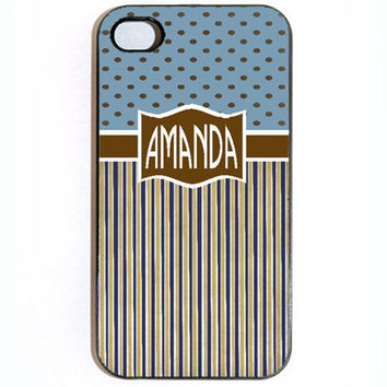 iPhone 4 4s Custom Personalized Name Snap on Hard by KustomCases