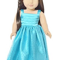 SPARKLE BLUE GOWN FOR AMERICAN GIRL DOLLS