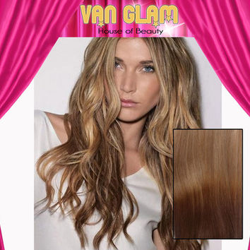 """Custom Ombre / Clip In / Hair Extensions / 18"""" / 100% Cuticle Remy"""