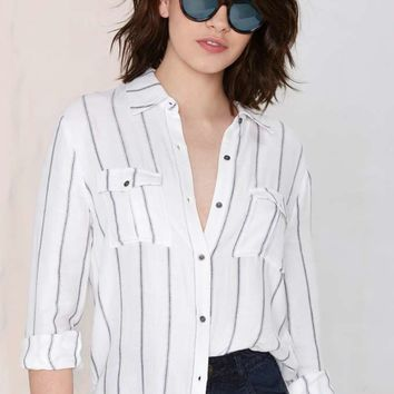 Line Drive Striped Shirt