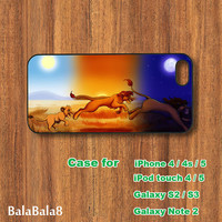 The Lion King - iPhone 4 case, iphone 5 Case, iPod touch case, iPod case, Samsung Galaxy S3 case, Galaxy S4 case, Galaxy note 2 case